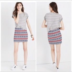 Madewell Jacquard Miniskirt Size 6